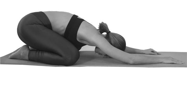 balasana Extendido - El Niño Extendido - Yoga depresión