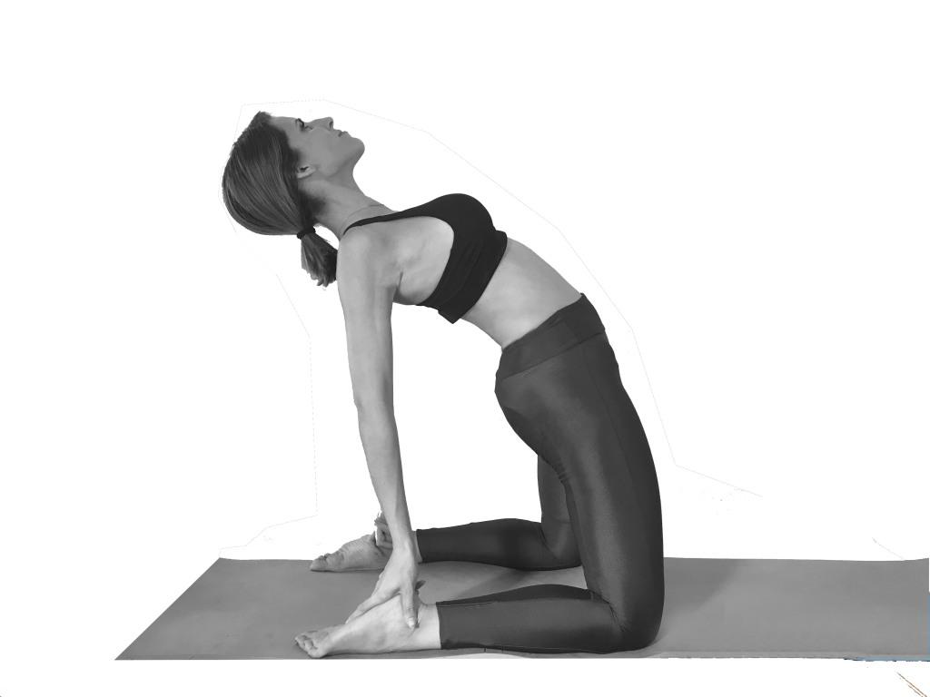 Ustrasana - El Camello - yoga depresión